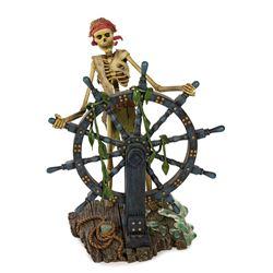 Pirates of the Caribbean Skeletal Helmsman Figure.