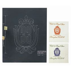 Set of Club 33 Napkins & Logo Development Artwork.