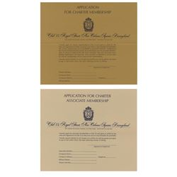 Club 33 Charter and Associate Membership Applications.