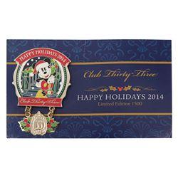 Club 33 Happy Holidays Pin.