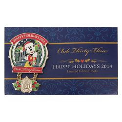 Club 33 Happy Holidays Pin.