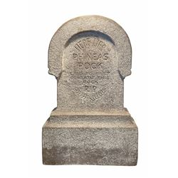 Original Phineas Pock Haunted Mansion Tombstone Prop.