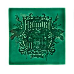 Haunted Mansion 40th Anniversary Ceramic Tile.