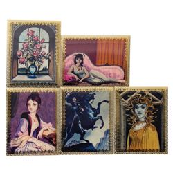 Set of (5) Haunted Mansion Lenticular Cards.