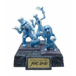 Marc Davis Signed Hitchhiking Ghosts WDCC Figures.