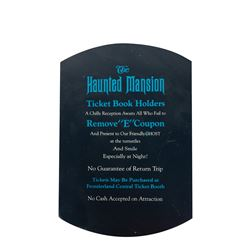 """Haunted Mansion """"E Ticket"""" Coupon Sign Replica."""