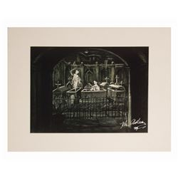 Signed Haunted Mansion Concept Art Print.