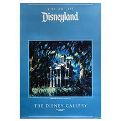 Signed Haunted Mansion Disney Gallery Poster.