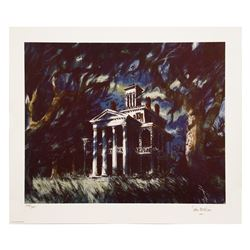 Signed Sam McKim Haunted Mansion Print.