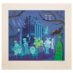 Signed Shag Haunted Mansion 40th Anniversary Print.