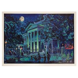 Signed Haunted Mansion 30th Anniversary Lithograph.