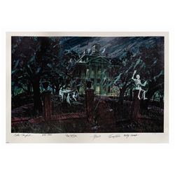 Multi-Signed haunted Mansion Concept Print.
