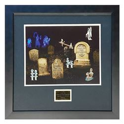 """Haunted Mansion """"Laid to Rest"""" Framed Pin Set."""