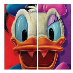 Pair of Donald and Daisy Paintings by Chris Dellorco.