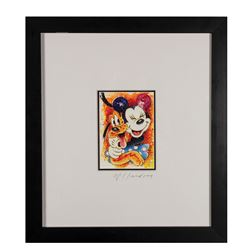 Original David Willardson Minnie & Pluto Painting.