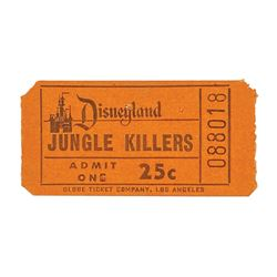 Keller's Jungle Killers Admission Ticket.