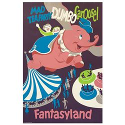 Original Fantasyland Attraction Poster.