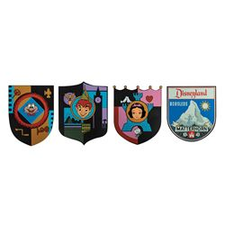 Group of (4) Limited Edition Attraction Shields.