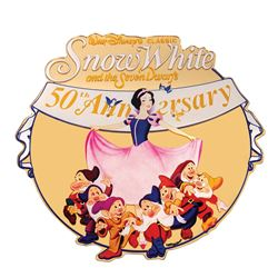 Snow White 50th Anniversary Lamppost Sign.