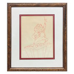 Original Don Williams Mr. Toad Drawing.