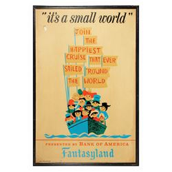It's a Small World Park-Used Attraction Poster.