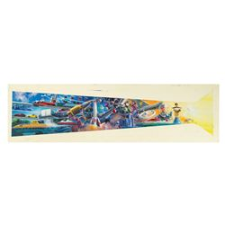 Original New Tomorrowland Mural Concept Painting.