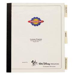 Tomorrowland Costume Program Design Book.
