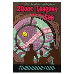 20,000 Leagues Under the Sea Attraction Poster.