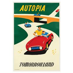Original Autopia Attraction Poster.