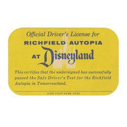 Disneyland Autopia Driver's License.