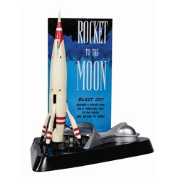 Rocket to the Moon Attraction Poster Lamp.