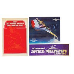 Cast Member Space Mountain Inaugural Flight Folder.