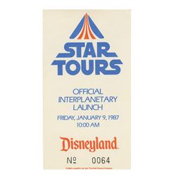 Star Tours Official Interplanetary Launch Ticket.