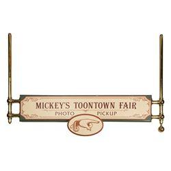 Mickey's Toontown Fair Photo Pickup Sign.