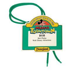 Mickey's Toontown Opening Identification Badge.