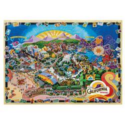 California Adventure Opening Day Imagineering Map.