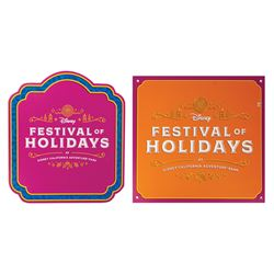 Pair of Festival of Holidays Signs.