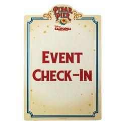 Pixar Pier Event Sign.