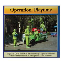 Operation: Playtime Green Army Men Sign.