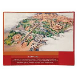 Cars Land Pre-Opening Map Sign.