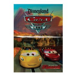 Cars Land Pre-Opening Lenticular Poster.
