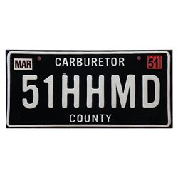 Cars Land Doc Hudson License Plate Prop.