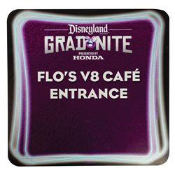 Grad Nite Flo's V8 Cafe Entrance Sign.