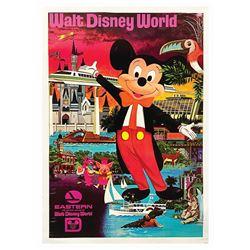 Eastern Air Lines Walt Disney World Travel Poster.