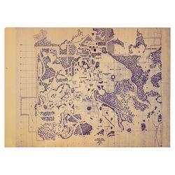 """Walt Disney World """"Phase One"""" Brownline."""