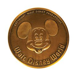 Walt Disney World Grand Opening Medallion.