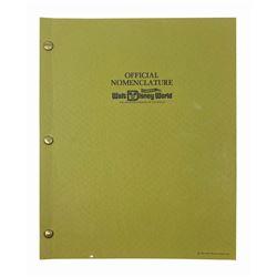 Walt Disney World Official Nomenclature Manual.