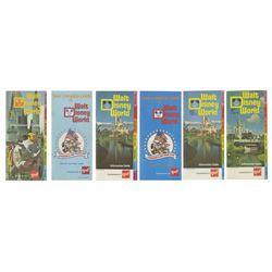 Collection of (6) Walt Disney World GAF Guidebooks.