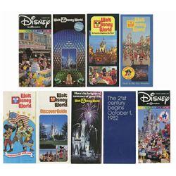 Collection of (8) Walt Disney World Brochures.