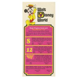Walt Disney World Gate Flyer.